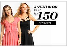 Oferta Zattini 3 vestidos por apenas R$150 com frete grátis para todo o Brasil.  http://desconto.gratis/cupom/oferta-zattini-3-vestidos-por-150/  #moda #vestidos #modafeminina #desconto #zattini