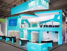 Exhibition Stand Design at Mobile World Congress, a fantastic design from Quam