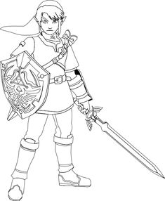 image result for zelda coloring pages - Link Coloring Pages
