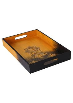 Wooden Decorative Trays Gorgeous Venice Serving Tray Wooden Decorative Tray Coffee Tea Tray  Yaz Decorating Inspiration