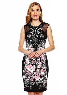 On ideeli: JAX Floral and Lace Cap Sleeve Dress #floral #dress