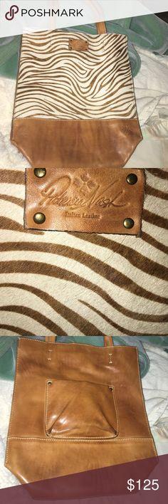 Patricia Nash bag Patricia Nash bag animal striped, pony hair front. Pocket on back. Patricia Nash Bags Totes