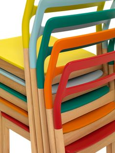 coloured chairs- monica förster + vincent van duysen for depadova