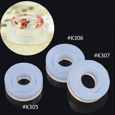 Silicone DIY Cabochon Ring Mold Making Jewelry Rings Resin Casting Mould DIY Craft