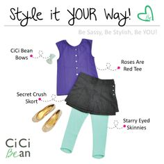 School CiCi Style!   CiCi Bean - clothing for tween girls.   www.peekaboobeans.com   #cicibeanstyle