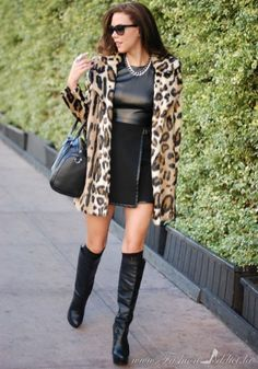 2013 fall\winter How to handle a leopard coat #leopard #coat www.loveitsomuch.com