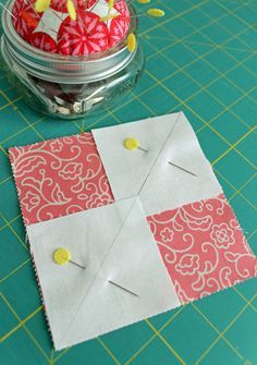 4 Flying Geese From A Single Charm Square Tutorial…