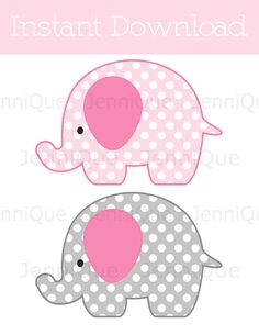 elephant baby shower silhouette cutter template elephants for diy