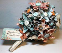 Apenas Três Palavras: Sim, Eu Aceito!: Faça Você Mesma: Flor de Papel para Buquê de Origami