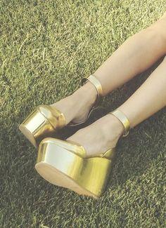 Gold platforms.