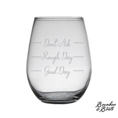 Funny Stemless Wine Glass Sets Just For Moms image Bourbon And Boots, Rough Day, Wine Glass Set, Lovers, Tableware, Funny, Image, Bad Day, Dinnerware