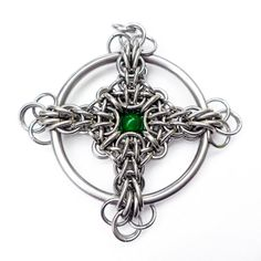 This is a Tutorial only, for making a Celtic Cross Chain Maille Pendant. This tutorial includes detailed weaving instructions to make a Celtic Cross in both square wire and round wire rings. This is Intermediate Chain Maille weaving Skill level. It does not include any tools or materials.  *******WE use rings from The Ring Lord for all of our tutorials. We make no guarantee that materials purchased from different vendors or even from our suppliers, that we have not personally tested, nor…