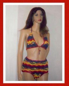 Zig Zag stitch Muti color hand Crochet