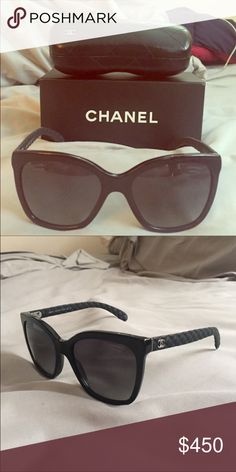 c6281f92e3b Authentic Chanel Sunglasses These are gorgeous black Chanel sunglasses.  100% Authentic. Brand new