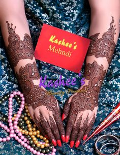 Very gorgeous mehndi design by kashee 's beauty parlour
