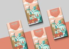 Religious Chocolate Branding - This Chocolate Packaging Celebrates the Muslim Holiday Eid ul Fitr (GALLERY) Muslim Holidays, Octopus Art, Chocolate Brands, Hot Chocolate, Chocolate Packaging, Chocolate Wrapper, Family Illustration, Creativity And Innovation, Brand Packaging