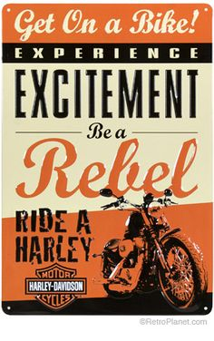 Experience excitement... Ride a Harley!