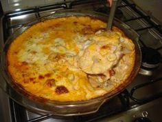 Receita de Gratinado de batata com presunto e queijo - Tudo Gostoso