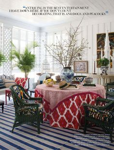 I adore this room...everything! Preppy, Chic, and FUN!