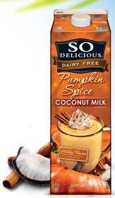 So Delicious Dairy Free: Pumpkin Spice Coconut Milk #drink