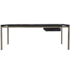 Poul Kjaerholm Very Rare Large Professor Desk | From a unique collection of antique and modern desks and writing tables at https://www.1stdibs.com/furniture/tables/desks-writing-tables/