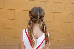 little-girl-hairstyles ~ Criss-Cross Apple Sauce