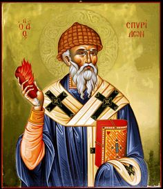 Saint Spyridon of Corfu Greece - His Miracles and Relics - Saint of the Greek Orthodox Church - Greeker Than The Greeks Raphael Angel, Archangel Raphael, Byzantine Icons, Byzantine Art, Religious Icons, Religious Art, Fortune Cards, Church Icon, Russian Icons