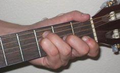 F chord on guitar.