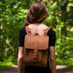 "Womens leather backpack 13"" backpack/ crossbody messenger bag. 2in1! Find out more inbagwetrust.com"