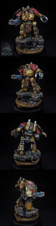 Hecaton Aiakos Minotaurs Contemptor Dreadnought [commission] - Forum - DakkaDakka | So good we named it twice.