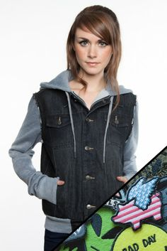 The Search Party denim jacket and Patch set