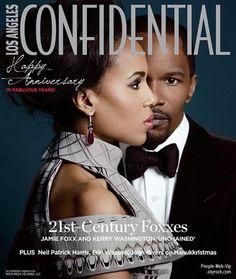 """Jamie Foxx & Kerry Washington En couverture du magazine """" LA Confidential"""""""