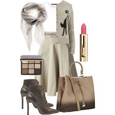 A fashion look from November 2014 featuring Orla Kiely cardigans, Sofie D'hoore tops and Sofie D'hoore skirts. Browse and shop related looks. Orla Kiely, Temperley, Bobbi Brown, Cardigans, November, Industrial, Fashion Looks, Cosmetics, London