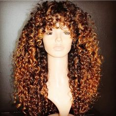 10A Curly Human Hair Lace Wigs with Bangs Virgin Human Hair Wig with Preplucked Hairline