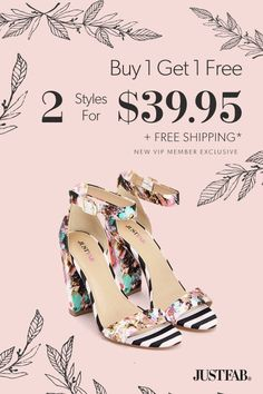 BOGO Spring Styles are In - Get Your First 2 Styles for Only $39.95! Make sure you're up to date on the hottest new trends by signing up as a JustFab VIP. You'll enjoy a new boutique of personalized styles each month, as well as exclusive pricing, early access to sales & free shipping on orders over $39. Don't think you'll need something new every month? No problem – click 'Skip The Month' in your account by the 5th and you won't be charged. Take the Style Quiz today to get this exclusive…