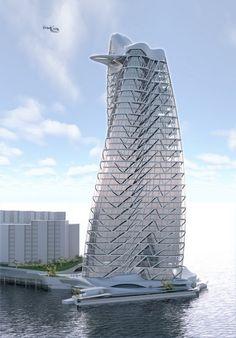 The Strata Tower in Abu Dhabi, UAE