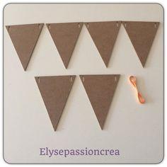 Guirlande de fanions en BOIS : Décoration d'intérieur par elyse-passion-crea