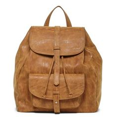 Tan Double Flap Backpack | Grier | Free Shipping on Orders $50+