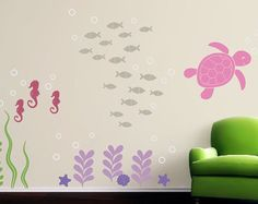 Wall Decal Set - Sea Ocean Friends - Large Set