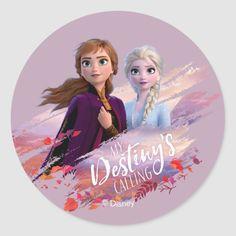 Frozen 2: Anna & Elsa My Destiny's Calling Classic Round Sticker