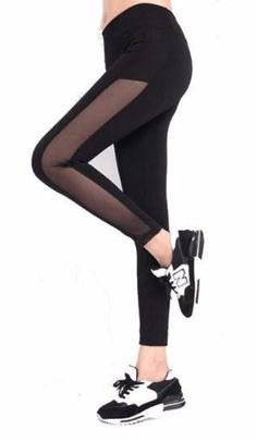 Full Side Mesh Leggings Mesh Workout Leggings, Mesh Leggings, Leggings Are Not Pants, Fit Women, Yoga, Pure Products, Womens Fashion, Fitness, Clothes