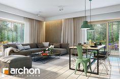 Dom pod jarząbem 17(N) - zdjęcie od ARCHONhome - Salon - Styl Minimalistyczny - ARCHONhome