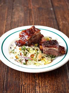 BBQ beef short ribs via Jamie Oliver