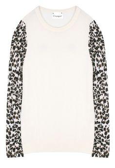 775b911b75 Leopard Sleeve Sweatshirt Front Mocha Leopard