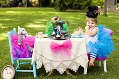 Mad Hatter's themed-children's tea party