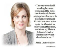 Women need a secular government because religion systematically oppresses us.