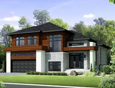 <!-- Generated by XStandard version 3.0.0.0 on 2016-01-04T17:18:07 --><ul><li>A large foyer brings you to the main living area of this exciting Contemporary house plan that has multiple transom windows.</li><li>A gorgeous open layout gives you wonderful sightlines from room to room.</li><li>A well-thought out design combines the powder room with the laundry to save space.</li><li>Notice the huge walk-in pantry with its generous storage.</li><li>Two family bedrooms on the second floor share…
