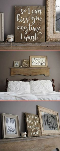 """""""So I can kiss you anytime I want"""" sign. Cute for over the bed or for engagement photo shoots  #homedecor #homedesign #homedecoration #homedecorideas #homesweethome #homestyle #country #farmhouse #farmhousestyle #farmhousedecor #rusticdecor #marriage #marriagequotes #commissionlink"""