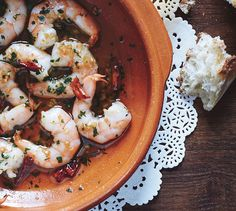 Garlic Shrimp with Chiles de Arbol. Take care with these little shrimp: Once they hit the oil, they'll cook through quickly. Easy recipe.