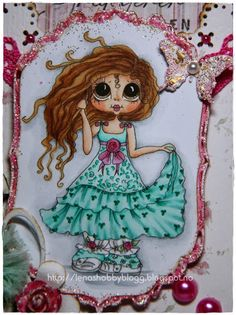 Bestie close-up by Lena..... see entire card in her blog post
